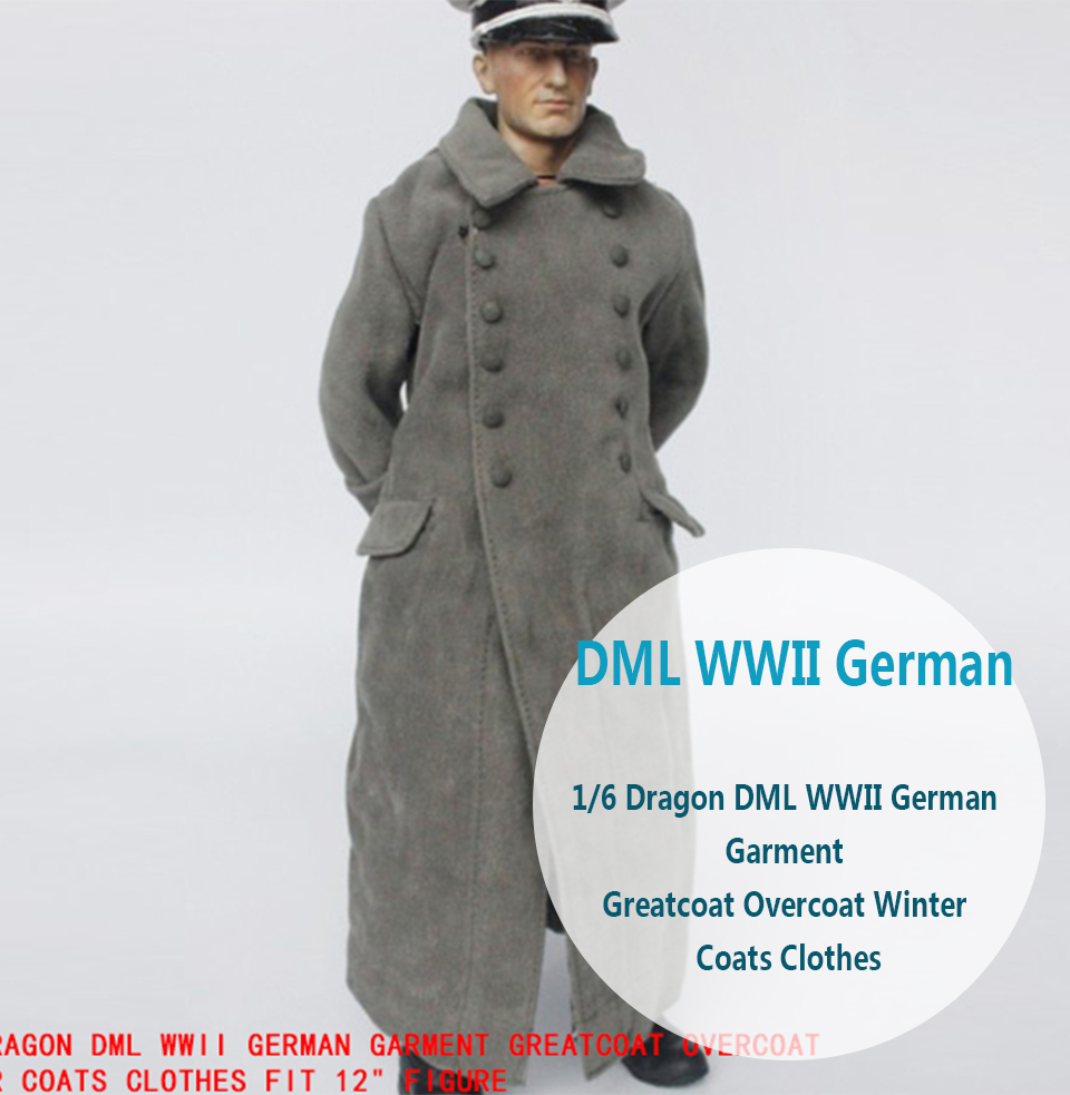 3R WWII German Officer Luftwaffe big guy greatcoat 1//6 toys dragon over coat DID