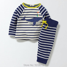 New 2017 Brand Quality 100% Terry Cotton Baby Boys Clothes Sets Children Clothing Suits Long Sleeve Bebe Kids Clothing Sets Boys(China)