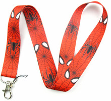 Lot 1Pcs SpiderMan Logo Strap Lanyards For ID Badge Mobile Phone Key Chain LA1