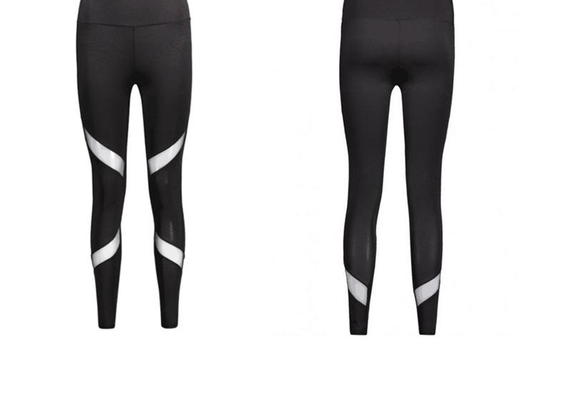 CHRLEISURE Sexy Women Leggings Gothic Insert Mesh Design Trousers Pants Big Size Black Capris Sportswear New Fitness Leggings 19
