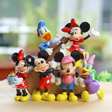 Disney Hot Toys 8cm 6pcs/Set Mickey Mouse Clubhouse Minnie Donald Duck Collectors Action Figure Toys Christmas Gift Doll(China)