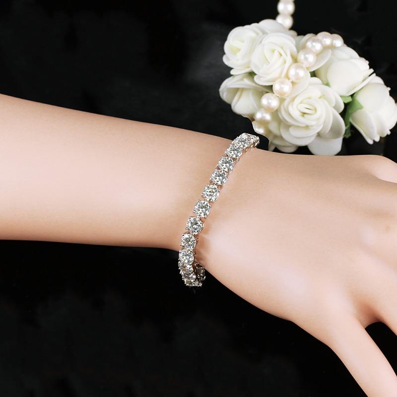 white tennis bracelet