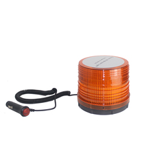 DC12V High Power Car Magnetic Mounted Vehicle Police Flashing 6W LED Flashing Warning Strobe Emergency Light Beacon Amber