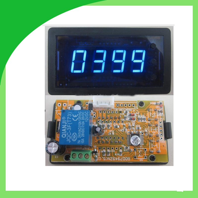 Blue DC12V 4 Digits LED Counter Panel Meter Plus Minus Totalizer w Relay output