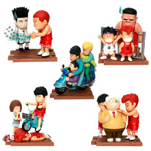 Huong Anime Cartoon Slam Dunk 5PCS/SET Sakuragi Hanamichi Rukawa Kaede PVC Action Figures Collectible Brinquedos Model Toys