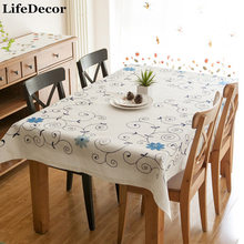 Small fresh flower gremial rustic fabric tablecloth dining table linen gremial fluid lu embroidery table cloth