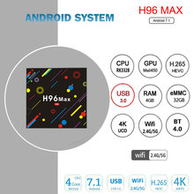 Buy Satxtrem 4GB / 32GB H96 Max H2 Android 7.1 TV Box RK3328 Quad Core 4K Smart Tv VP9 HDR10 USB3.0 WiFi Bluetooth 4.0 Media Player for $92.84 in AliExpress store