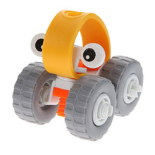 Car Robot Shape 3D Puzzle Kids DIY Assemble Learning Machine Handmade Plastic Puzzle Children Early Educational Toys Gift(China)