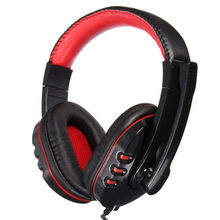 New Arrived Stereo PC Gaming Headphone Headset Earphone with Mic/Microphone For Laptop Skype for MP3 for PS3 Computer
