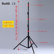 Photographic 2.8M Thicken Light Stand Tripod With 1/4 Screw Head For Photo Studio Video Flash Umbrellas Reflector Lighting Stand