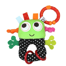 Baby Rattles Toys Small Robots Hanging Infant Bell Rubber Ring Pip Boy Stroller Teethers Toys Lovely Baby Toys