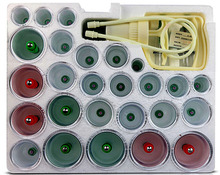 30 Pieces Cans cups chinese vacuum cupping kit pull out a vacuum apparatus therapy relax massagers curve suction pumps