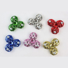 Fancy Hand Finger Spinner Fidget 3d With LED Light 360 degree Spin Pocket EDC Toys Kids Gift