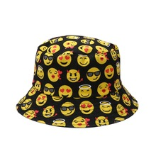 Summer Floral Beach Sun Cap Bucket Hat Two-Side Casual Cotton Fisherman Hats