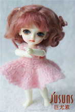 1/8 mohair doll wig Baby curly BJD wigs 5-6inch Lati yellow doll accessories(China)