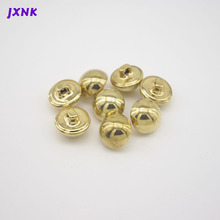 10pcs/lot 24L 15mm mushroom design metal Brass  buttons for garment Vintage button to sew DIY accessories Gold/matte silver