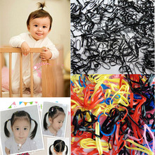 Sale New 300pcs Girl  Rubber Hairband Ponytail Holder Elastic Hair Band Ties Braids Accessory