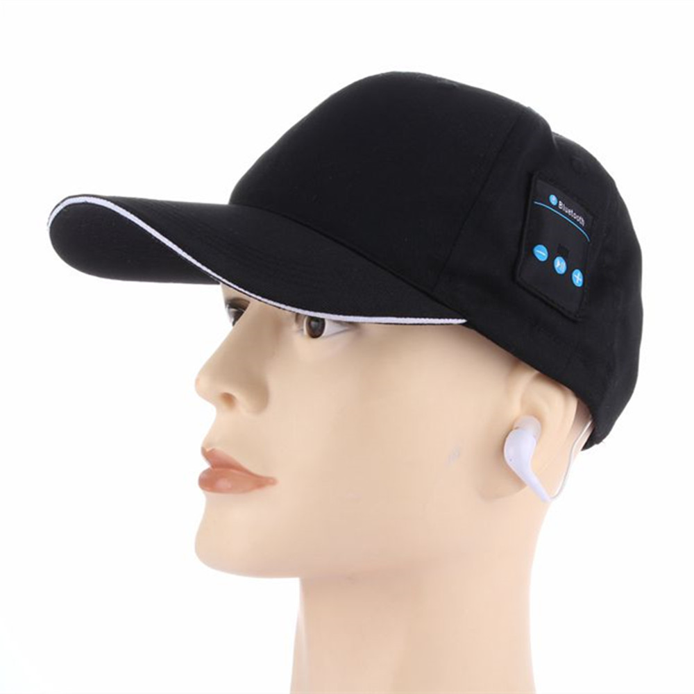 2017 New Wireless Sport Bluetooth Music Hat Cap Speaker Headset Headphone Earphones Mic  winter bluetooth cap <br><br>Aliexpress