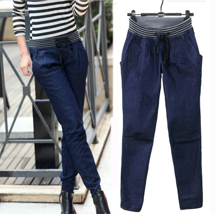 3xl plus size denim jeans panty women spring autumn 2017 feminina New outfit thin cowboy denim pants female A1798Одежда и ак�е��уары<br><br><br>Aliexpress
