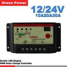 10A20A30A 12V/24V solar charge controller,solar regulator for solar panel system use,double LED light display.cheap price