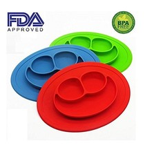 HOT Silicone Kids Placemat, Strong Table Suction, Fits Most Highchair Trays, Dishwasher, Microwave Safe, FDA Approved BPA Free