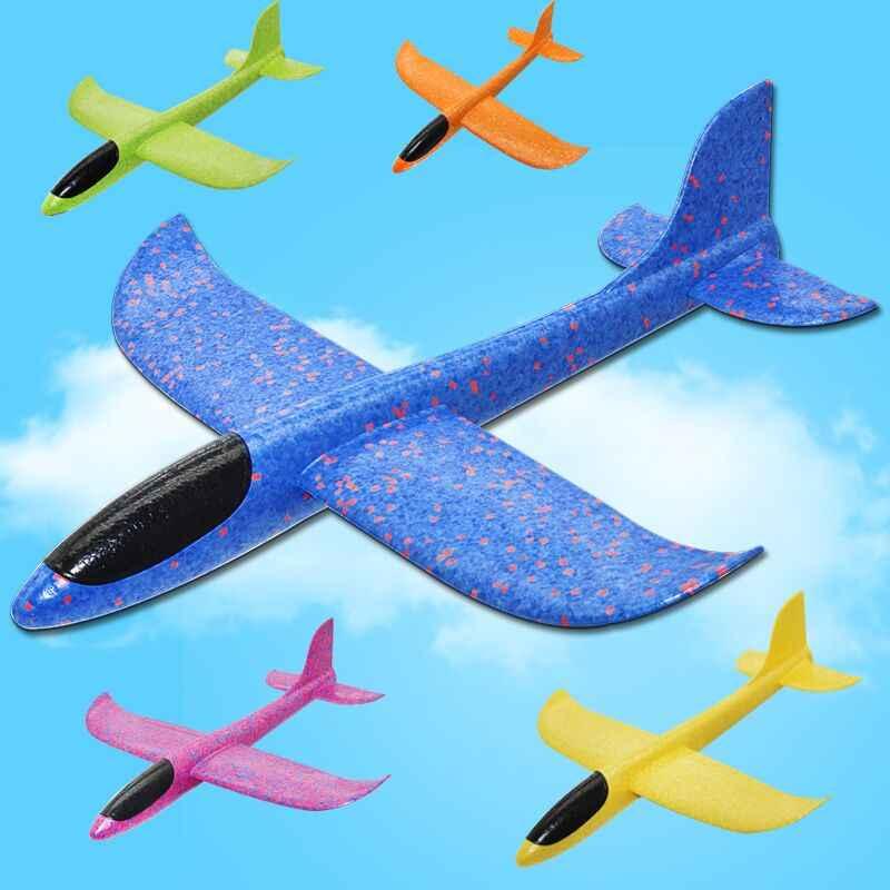 7dfc2c96c7 Grandes 35 cm niños juguetes de mano lanzamiento avión vuelo planeador  aviones EPP espuma avión modelo