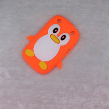 For Blackberry Curve 9320 9220 Bags Hot Luxury 3D Cute Cartoon Penguin Duck Soft Silicon Back Cover Phone Case