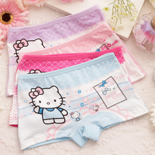 2016 Calcinha Infantil 4pcs Baby Girl Child's For Underpants Shorts Nurseries Children's Boxer Underwear Kids Panties Cgub 8119(China)