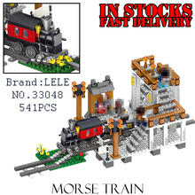 LELE My World Minecraft 33048 541PCS Morse Train Building Blocks Bricks anime action figures toys for children gifts brinquedos(China)