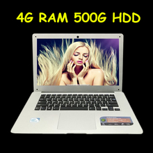 Free Shipping 14.1 inch ultrabook slim laptop computer 64bit In-tel J1900 2.0GHZ 4GB 500GB Windows7+ WIFI+HDMI+WEBCAM