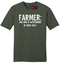 Farmer Outstanding In The Field Funny Mens Soft T Shirt Country Redneck Tee Z2 Free Shipping Summer Fashion
