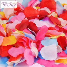 FENGRISE 1000pcs Silk Rose Petal Wedding Artificial Flowers Decoration Wreath Decorative Crafts Supplies Engagement Celebration