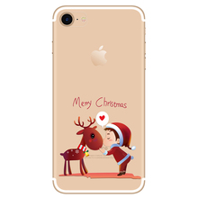 Yokata Transparent Case for iPhone 7 7 plus case Chrismas Drop Protection Deer and kid Cute Pattern BackCover For iPhone7 plus(China)