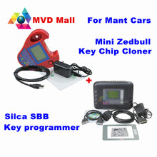 Best Match Silca SBB Key Programmer V33.02 + Smart Mini Zed-Bull V508 Zedbull Transponder Key Chip Cloner For Mutl-Cars No Token(China)