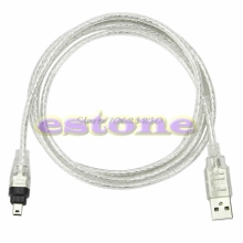 5ft 1.4m USB To Firewire iEEE 1394 4 Pin For iLink Adapter Cable #R179T#Drop Shipping(China)