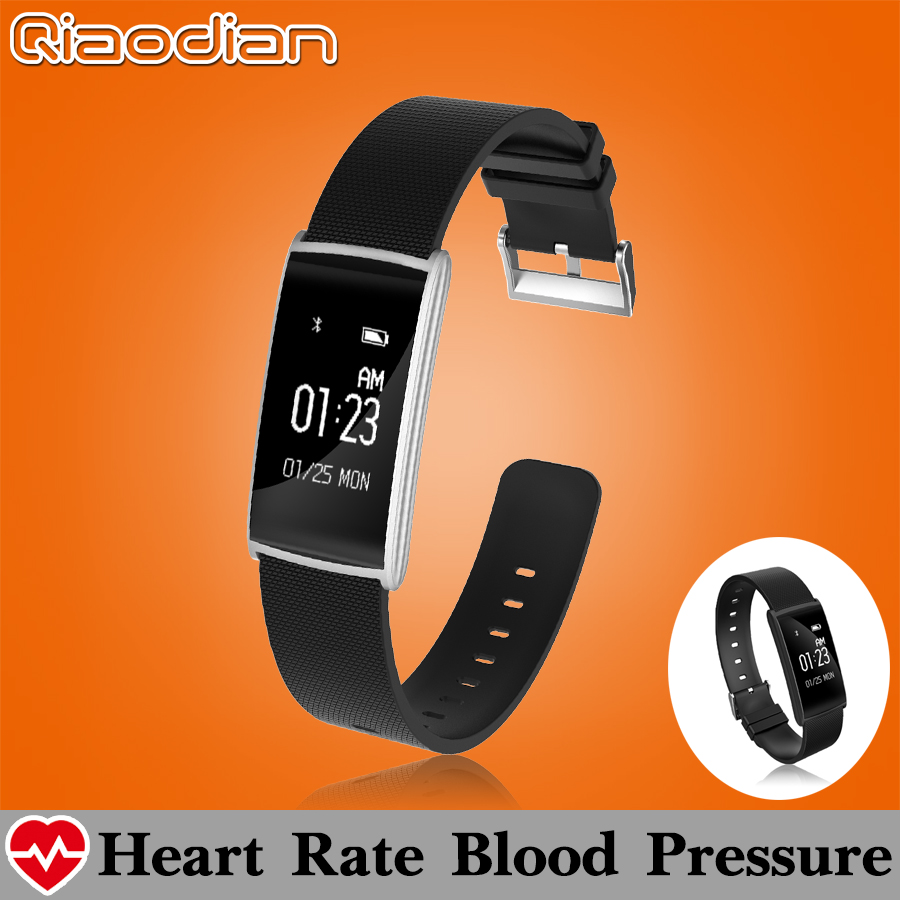 Tempered Touch Screen Bluetooth Smart Watch Clock Smartwatch Blood Pressure Heart Rate Fatigue Monitor Fitness Android iOS  -  Qiaodian China Store store