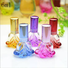 Free Shipping 6ml Rose Glass Spray Empty Perfume Bottle Crystal Clear Perfume Bottle Parfums Vaporizador 2017 New Wholesale(China)