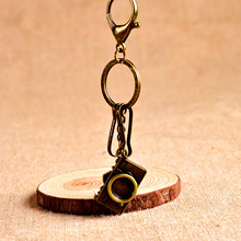 Camera key Chain - Antique Creative Mini-camera Car Key Ring men and women keychain car metal key ring pendant 17281