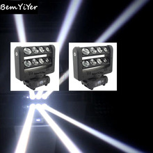 2pcs/LOT CREE WHITE 8x10-Watt led spider Beam bar moving head light/crazy 8/two tilting bars/stages/mobile/DJ/party/disco/ktv(China)