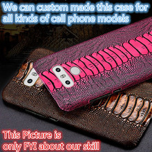 JC12 Ostrich Foot Pattern Genuine Leather Back Case For Apple iPhone 8 Plus(5.5') Phone Case For Apple iPhone 8 Plus Cover(China)