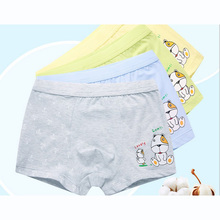 new free shipping high quality boys cotton boxer shorts panties kids character dog underwear 2-16 years old teenager 4pcs/lot(China)