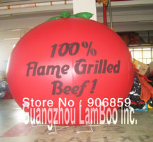 DHL Free Shipping Giant 2m Inflatable Tomato Balloon with your LOGO for Promotion/Inflatable Advertising Balloon for you.(China)