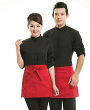10pcs Half-length chef uniforms Waist apron black short female restaurant fashion Korean version of the waist apron