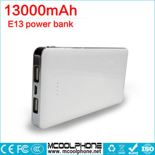 Power Bank 13000mAh External Battery Portable Mobile Power Bank Dual Output Charger for Xiaomi MI Huawei Meizu iPhones,iPad