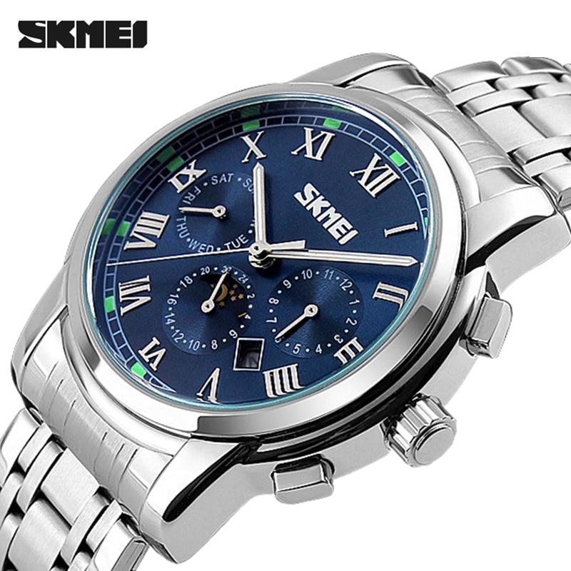 2017 Watches Men Luxury Top Brand SKMEI Full Stainless Steel Analog Display Fashion Mens Quartz Watch sport casual Wristwatch<br><br>Aliexpress
