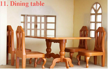 Brinquedos Meninas 1/12 ding table set dollhouse furniture Miniature cook tools Doll Houses toy