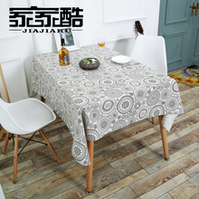 2017 New Cotton Tablecloth Printed Bottle Linen Customized Simple Furniture Dust Proof Covers DIY Fabric Rectangular Table Cloth