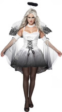 New Arrival Classic Halloween Costumes vampire ghost bride Women's Uniform Party queen Black angel Cosplay sexy Costumes(China)