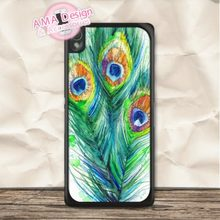 Green Mint Feather Watercolor Case For Sony Xperia Z5 Z4 Z3 Z2 Z1 compact Z C3 C T3 T2 E4 SP M4 M2(China)