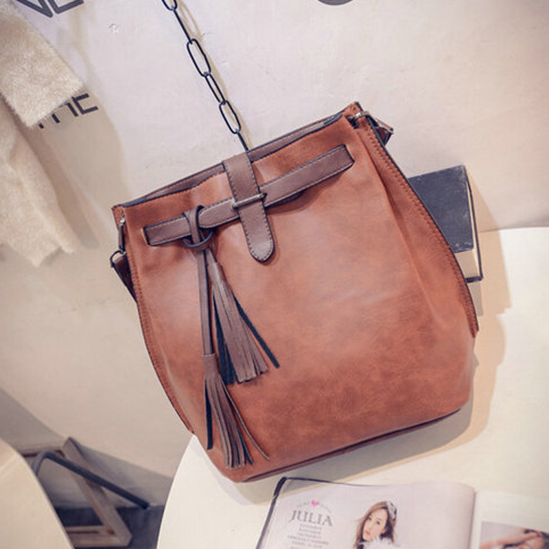 Brand-Women-Bag-Tassel-Handbags-Solid-Shoulder-Bags-Ladies-Pu-Leather-Woman-Messenger-Bag-Brown-red